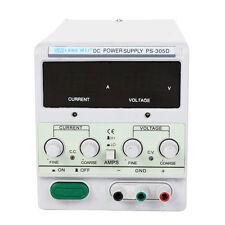 30V 5A 110V Precision Variable DC Power Supply Digital Adjustable w/Clip Ca