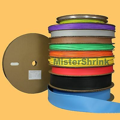 Heat Shrink Tubing Bulk Spool HeatShrink Tube Long Roll Reel Coil Sleeve Colours