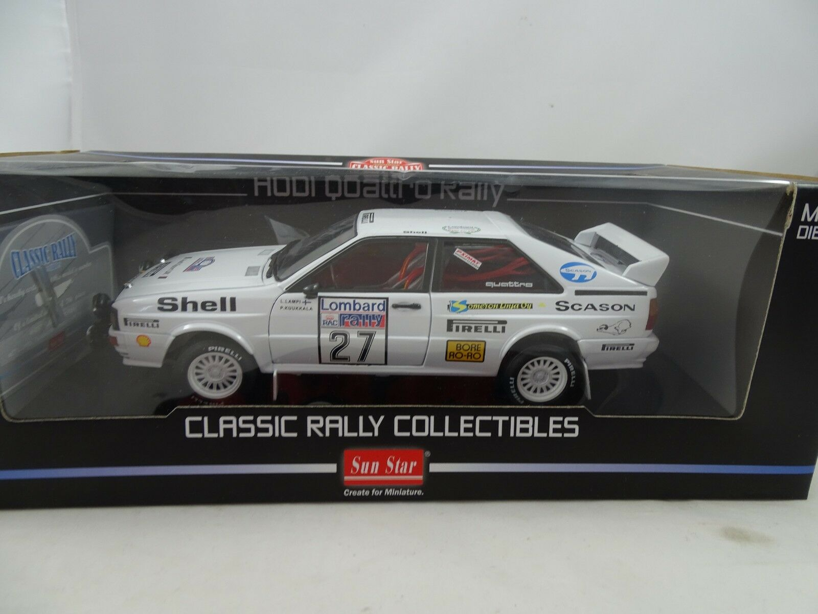 1 18 Sunstar  4197I QUATTRO RALLY  27 Limited edition 1 of 786p. - RARE §