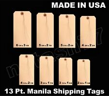 100 Manila 13 Pt Inventory Shipping Hang Price Tags Pre Wired 12345678
