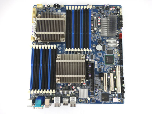 INTEL GA-7TESM GIGABYTE REV 1.0 LGA 1366 SYSTEM BOARD WITH 2X HEATSINKS