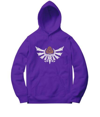 Legend of Zelda Triforce Symbol Men Women Unisex Sweater Jacket Pullover Hoodie