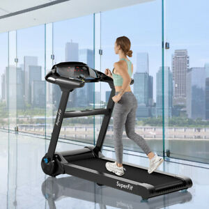 2.25HP Folding Treadmill Running Machine W/LED Touch Screen Bluetooth Speaker