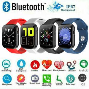 Smart Watch Sport Activity Tracker Bluetooth für iPhone Android Schrittzahl DE