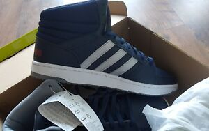 new style 33c82 d5d4a Image is loading Adidas-Neo-HOOPS-VS-MID-Navy-Shoes-Sneakers-