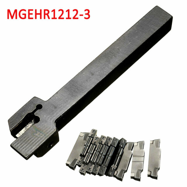 10x MGMN300 Insert With MGEHR1212-3 Lathe Cut-Off Grooving Parting Tool Holder