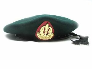 2bc0f106 Details about Beret Hat Cap Army Green Military idf Israeli Intelligence  Corps Officer Hats