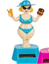 Solar Wackel-Figur Solarfigur Bikini Lady Blau Dekofigur Tanzend Strand Party