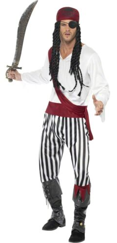 Couples Striped Pirate Book Day TV Film Matching Fancy Dress Costumes Outfits