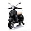 MOTO-ELETTRICA-PER-BAMBINI-VESPA-PIAGGIO-PX-150-12v-CON-BAULE-ROTELLE-FULL miniatura 2
