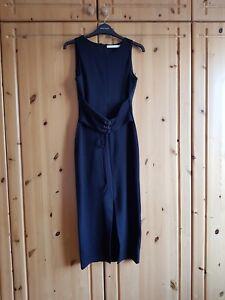 03194fa952c2 zara trf bodycon black sleeveless corset midi dress size medium | eBay
