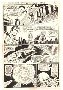 World's Feinste Comics #213 P.7 - Superman & Atom Action 1972 Art Von Dick