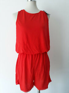 premium selection 2be12 e2448 Details zu VERO MODA Damen Jumpsuit Strandoverall kurz Playsuit rot Gr. S M  L XL NEU