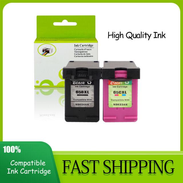 1PK Black+1PK Color 65XL Ink Cartridge for HP DeskJet 2600 3764 2624 3735