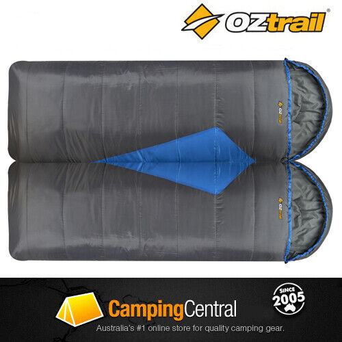 OZTRAIL TASMAN TWIN -5 C (230 x 80cm) Double Duo Sleeping Bag Two Person