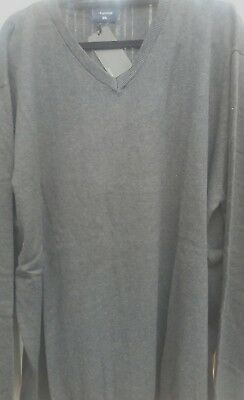 ESPIONAGE PETROL COTTON V NECK JUMPER 2XL3XL4XL5XL6XL
