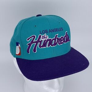 Los-Angeles-the-Hundreds-Purple-Turquoise-Embroidered-Snapback-Hat-Cap