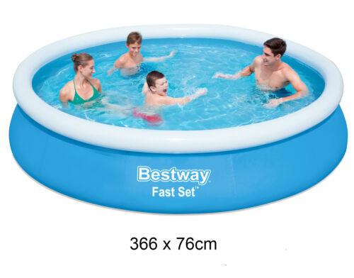 BESTWAY Fast Set Schwimmbecken Swimmingpool  Planschbecken Schwimmbad 366x76cm
