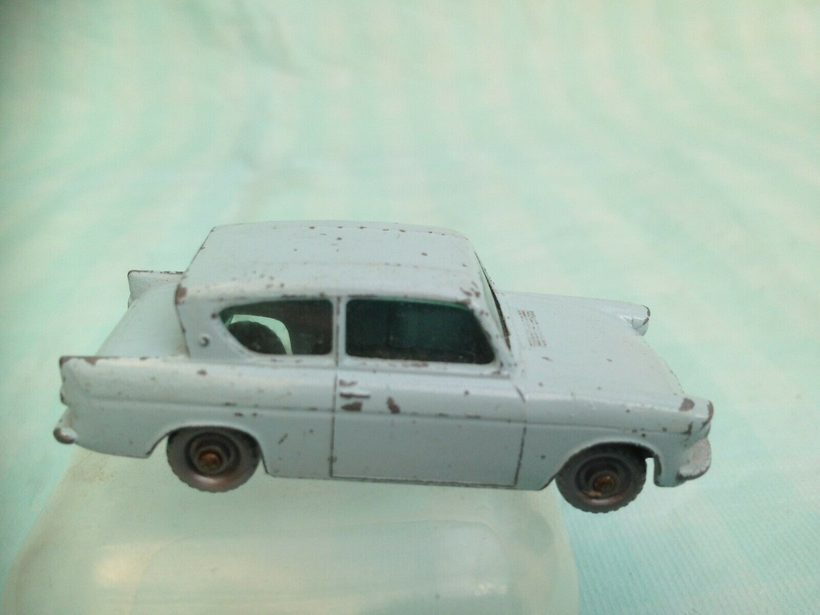 Vintage Lesney Moko No 7 1st Series Ford Anglia  (Grey Wheels ) 1961