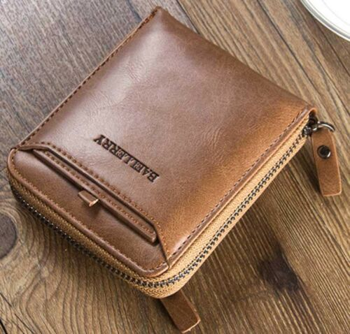 Men/'s Leather Bifold Wallet Vintage Credit ID Card Holder Coin Purse Billfold