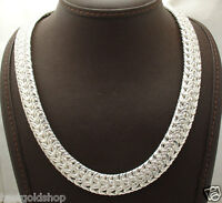 Bold Heavy Byzantine Chain Necklace Real Sterling Silver Qvc 18 20 75gr