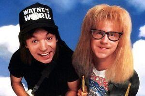waynes world trucker hat black mesh cap funny halloween costume 90s garth