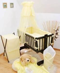 Crib Canopy + Holder for Baby Rocking/ Swinging/ Cradle/ Moses Basket - Yellow