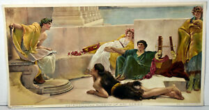 1890s Antique Print Young Greek Poet Reading Homer