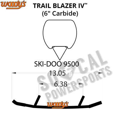"Woodys Trail Blazer Round Bar 6/"" Pair Carbide Runners SkiDoo 850 E-TEC 2017-19"
