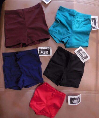 NWT BoyCut Shorts high waist 5 Colors Girls//Ladies Spandex Dance Cheer Satinfnsh