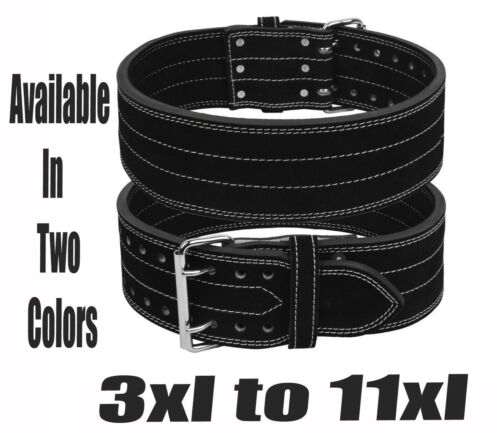 Power Weight Lifting Leather Belt Back Support Strap Gym Training Fitness