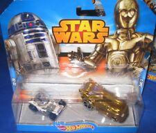 DISNEY HOT WHEELS STAR WARS DOUBLE PACK R2-D2 & C3PO NEW