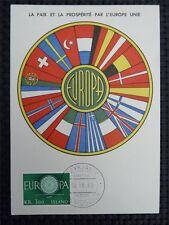 ISLAND MK 1960 EUROPA CEPT MAXIMUMKARTE CARTE MAXIMUM CARD MC CM c3474