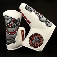 19th Hole Custom Shop Bulldog Golf Blade Putter Head cover, White
