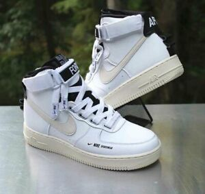 Details about Nike Air Force 1 High Utility Women's Size 10 White Light Cream Black AJ7311 100