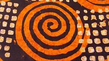 African Ankara Wax Print 100% Cotton For Dress Making & Craft - 6 Yards - Orange