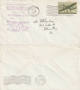 US-1946-WESTERN-FIRST-FLIGHT-FLOWN-COVER-OAKLAND-CALIF-TO-SAN-FRANCISCO-CALIF