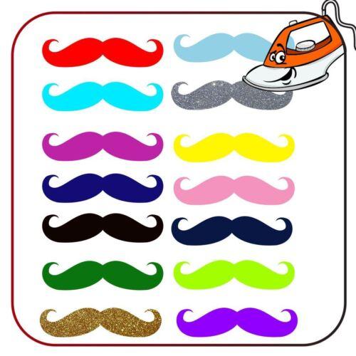 Mustache Print T Shirt Iron On Fabric Heat Transfer Hen Party Top Crew Design