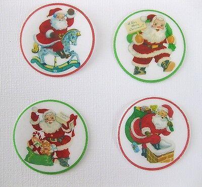30 PRE CUT Christmas Santa Xmas Edible Butterflies Butterfly Cupcake Toppers