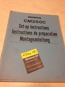 Honda-CM250C-Custom-CM250-C-CM-250-250CM-Instruccion-preparacion-set-hasta