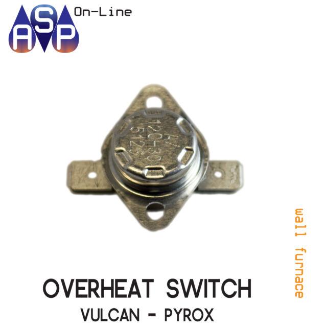 Cutout Overheat Switch For Vulcan Pyrox Wall Furnace Part 2055821sp