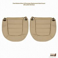 2002 Ford Explorer Front Driver & Passenger Bottom Leather Seat Covers- Tan