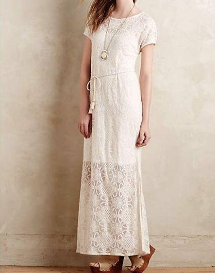 NEW Anthropologie Lilka Bellflower Cream Lace Dress  Sz S