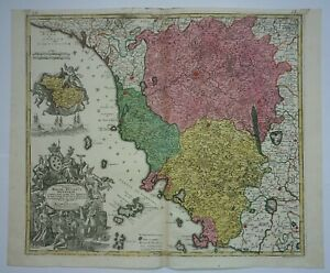 Cartina Giografica Toscana.Antica Carta Geografica Della Toscana Magni Ducatus Hetruriae Seutter Etruria Ebay