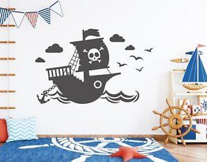 Wandtattoo Kinderzimmer Junge Wandtatoo Pirat Wandaufkleber ...