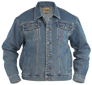Big Mens Denim Jacket 3xl xxxl 4xl 5xl 6xl Generous NEW | eBay