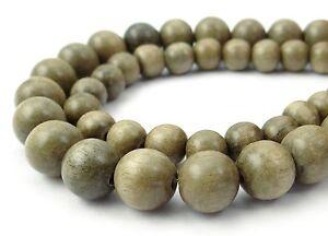 India-madera-gris-plata-bolas-4-6-8-10-12-amp-15mm-Perlas-de-CADENA