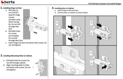 Full Overlay Soft Close Frameless Cabinet Door Hinges 10 110 Degree Clip On