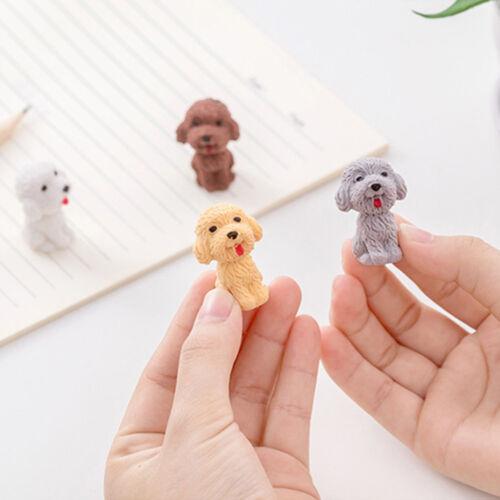 School Supplies Cartoon Dog Eraser Student Stationery Drawing For Kids 2pcs//set