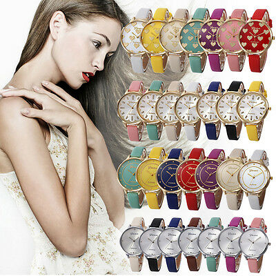 Womens Watch Stainless Steel Diamond Watch Leather Crystal Quartz Wrist Watches